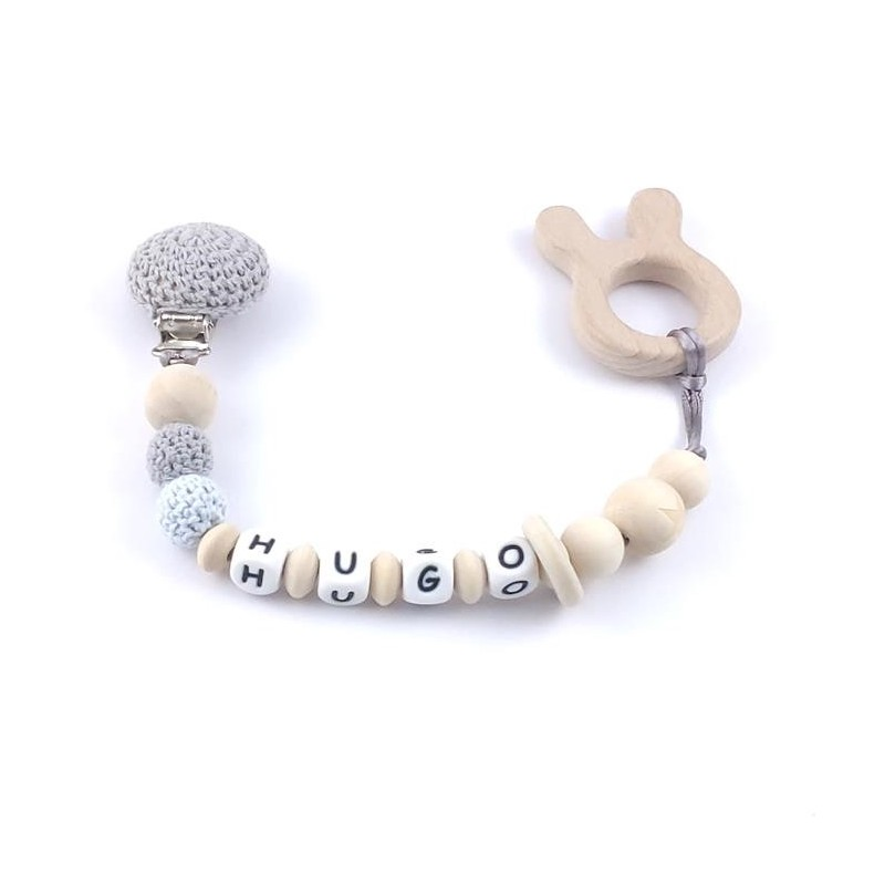 1pc Baby Pacifier Chain Crochet Elephant Beads BPA Free Rodent ... | 800x800