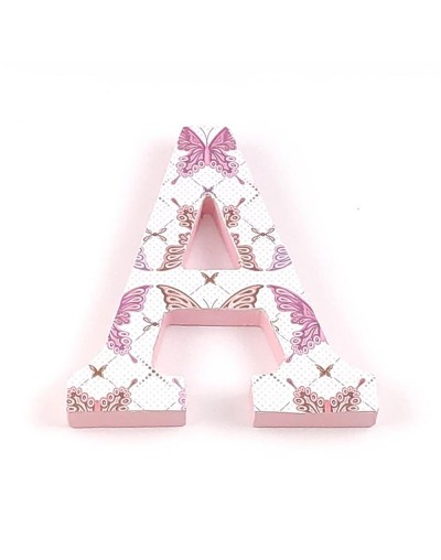 Decorated letter Butterfly