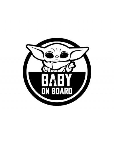 Sticker Baby on board Grogu