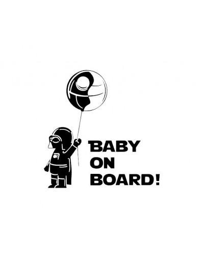 Sticker Baby on board Darth...